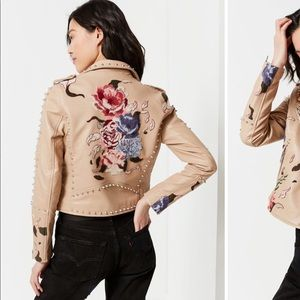 BLANKNYC/UO Natural Romance Studded Motor Jacket